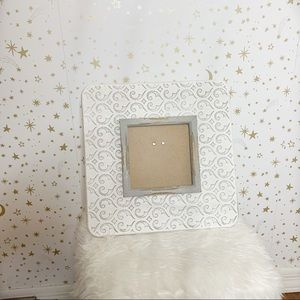 White and Grey Farmhouse 5x5 Picture Frame